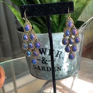 Jewelry - Beautiful Blue Chandelier Earrings